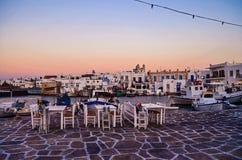 Naousa, Paros, Греция Стоковое Фото