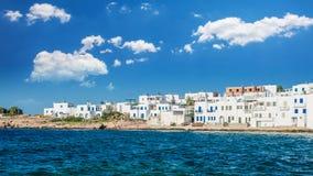 Naousa-Stadt, Paros-Insel Stockbilder
