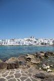 Naousa sull'isola di Paros Immagini Stock