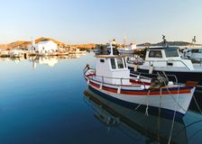 Naousa village harbor Royalty Free Stock Image