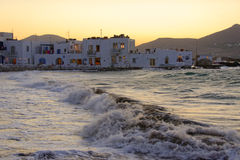 Naoussa village on Paros island Stock Image