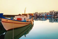 Naoussa coastal village Stock Photography