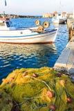 Naoussa fishing port before sunset, Paros Island, Greece Royalty Free Stock Photos