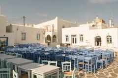 Naoussa at Paros island in Greece. A beautiful tourist destination. Stock Image