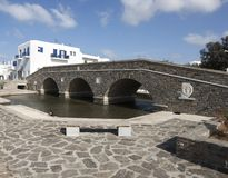 Naoussa town in Paros island royalty free stock photography
