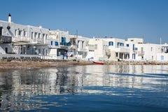 Naoussa village,Paros, Greece Royalty Free Stock Photo