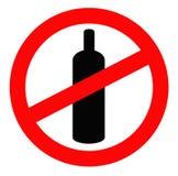 napój zakazujący Zdjęcia Royalty Free