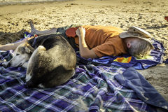 Nap on the Beach Stock Photography
