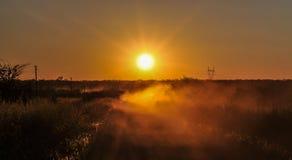 Napędowe drogi gruntowe, zambiowie Zdjęcie Royalty Free