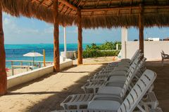 Nap Place. A nice snorkel park to relax and enjoy your day on Isla Mujeres, Mexico Stock Photography