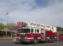 Napa County brandlastbil i Yountville Arkivbilder