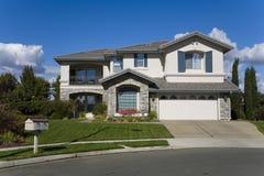 Napa County, CA Custom Home. Exterior shot of a custom home built in the Napa Valley of California Stock Photos