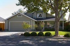 Napa County, CA Custom Home. Exterior shot of a custom home built in the Napa Valley of California Stock Photo