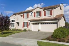Napa County, CA Custom Home. Exterior shot of a custom home built in the Napa Valley of California Stock Photography