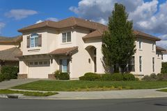 Napa County, CA Custom Home. Exterior shot of a custom home built in the Napa Valley of California Royalty Free Stock Photography