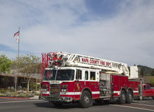 Napa County fire truck in Yountville Stock Images