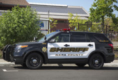 Napa County sheriff's car in Yountville Stock Image
