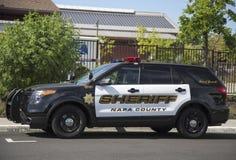 Napa County sheriffs bil i Yountville Fotografering för Bildbyråer