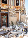 Napa, dommages de tremblement de terre de la Californie Images libres de droits