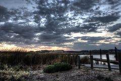 Napa Fluss-Ansicht Stockbild