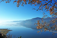Napa sea. The highland lake, called Napa, is surrounded by the morning fog Stock Photo