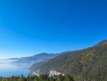 Napa sjö i Shangrila, Yunnan, Kina Arkivbilder