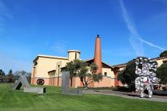Établissement vinicole de Clos Pegase dans Napa Valley, la Californie Images stock
