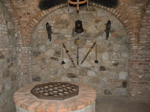 NAPA Valley, California- April 6, 2012: Torture Chamber at Castello Di Amorosa Royalty Free Stock Images