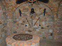 Napa Valley, Kalifornien 6. April 2012: Folterkammer bei Castello Di Amorosa Lizenzfreie Stockbilder