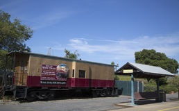 Napa Valley Railroad wine train station in Yountville Stock Images