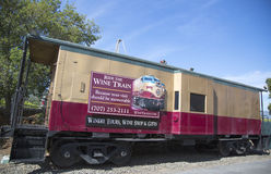 Napa Valley Railroad wine train in Yountville Stock Photography