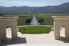 Napa Valley view from Opus One Winery Stock Photos