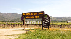 Napa Valley Welcome Sign Royalty Free Stock Images