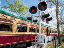 Napa Valley Wine Train. Wine Train running through St. Helena in the Napa Valley, California Stock Image