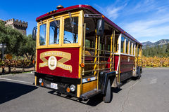 Napa Valley Wine Trolley Stock Photography