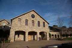 Brick design winery of Napa Royalty Free Stock Photo