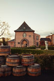 Napa Valley Winery. Gorgeous Napa Valley, California winery with empty barrels Royalty Free Stock Images