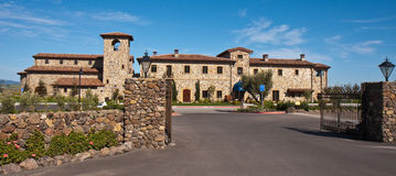 Napa Valley Winery. Impressive Napa Valley winery, California stock image