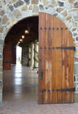Napa Valley Winery Door. Arched door at winery in Napa, California Stock Image