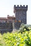 Napa- Valleyschloss Stockfoto