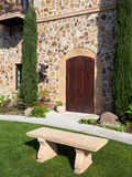 Napa Winery Facade. Beautiful entrance to a Napa Valley winery Stock Photography
