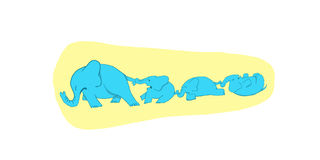 Napadów złości słonie Obraz Royalty Free
