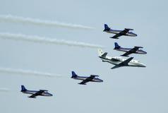 napad samolotowa formacja Zdjęcie Royalty Free