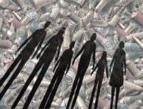 Napad Z Bronią W Ręku socjalny zagadnienie Obrazy Stock