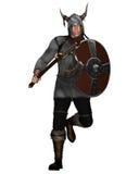 napadania fantazi stylu Viking wojownik ilustracja wektor