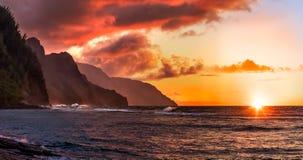 Napali海岸在夏威夷 库存图片