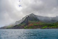 Napali海岸在考艾岛,夏威夷海岛 库存照片