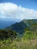 Napali海岸线山在考艾岛 库存图片