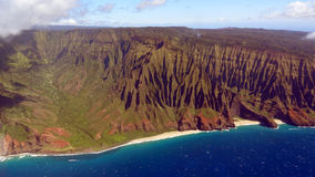Napali Coast from bird's eye view Stock Photography