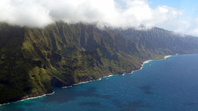 Napali Coast from bird's eye view Royalty Free Stock Image